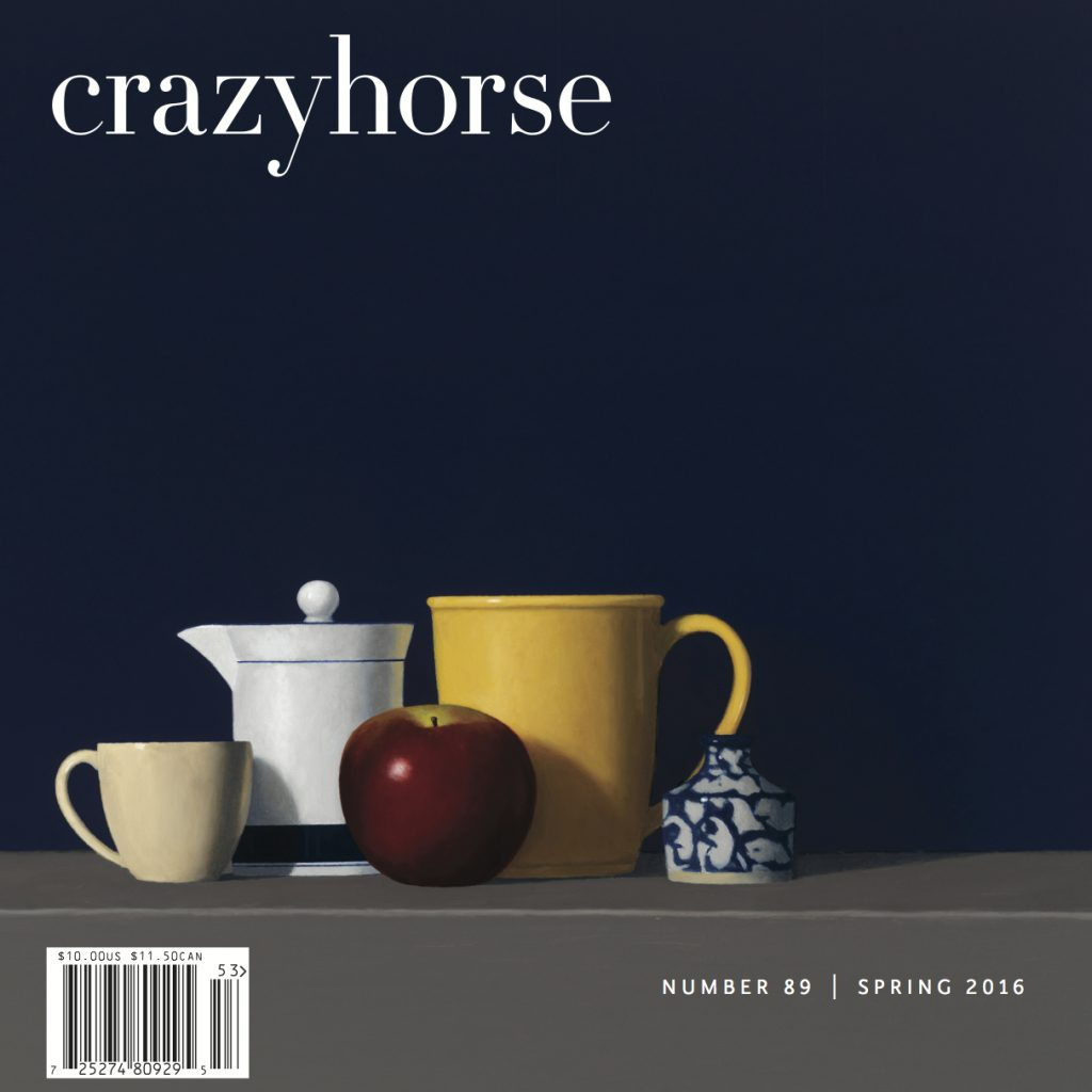 Our current issue, Crazyhorse no. 89