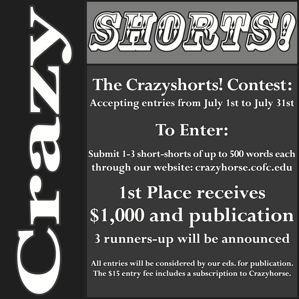 Announcing the 2014 Crazyshorts! Winner & Runners-Up